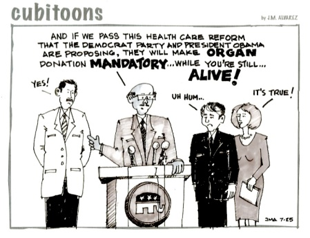 GOP, Health Care Reform, Political Cartoon
