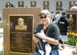 Proud Papa with The Babes, Monument Park, Yankee Stadium, Bronx, NY