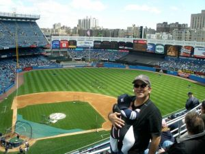 "The Money Shot. Papa Takes Nicky To His First Baseball Game at ""Old"" Yankee Stadium, Bronx, New York. May, 2006"