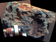 """Block Island"" Meteorite Found on Mars. Image by NASA"