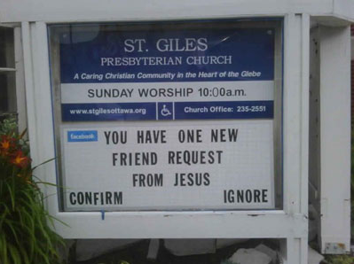 Friend request from Jesus