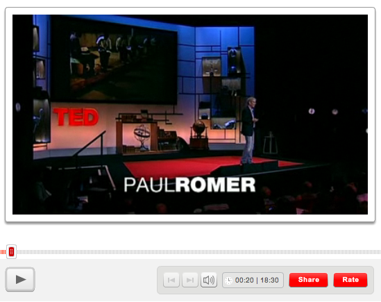 Paul Romer at TED