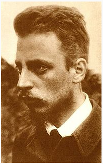 Photograph of Rilke, circa 1900. Image from Wikipedia