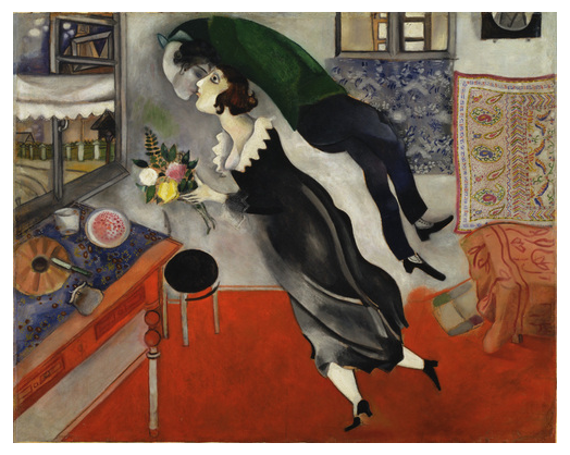 Painting: Birthday by Marc Chagall