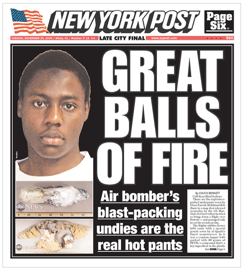 NY Post on Detroit Bombing Attempt