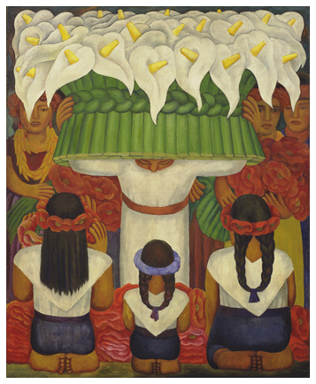 Flower Festival: Feast of Santa Anita by Diego Rivera