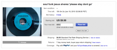 45 rpm on ebay stay please dont go soul funk by jesus alvarez