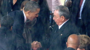 Obama Shaking Raul Castro's Blood-soaked Hand