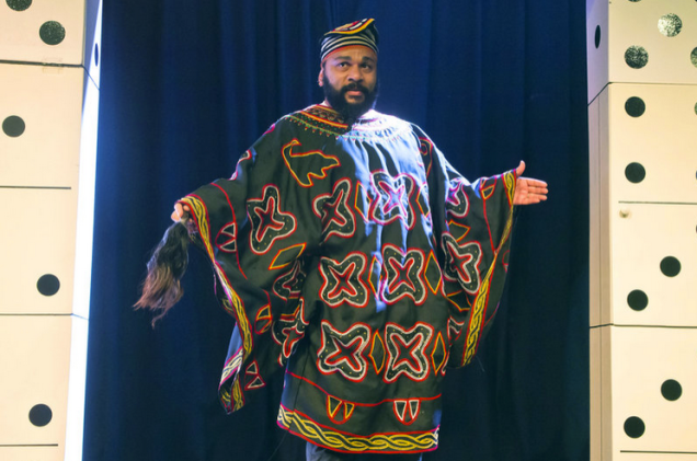 Dieudonne M'Bala M'Bala, the French comedian better known as Dieudonne, has been arrested and held on charges of apologizing for terrorism in the wake of a Facebook post that referred to last week's deadly attacks in Paris. (c) Michel Euler/AP